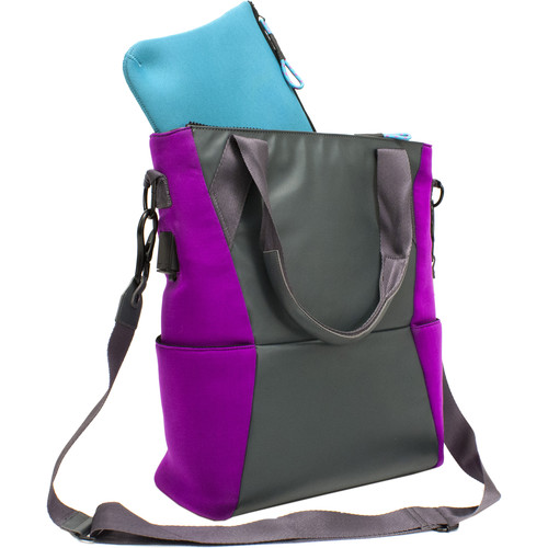 M-Edge Tech Tote with 6000 mAh Battery (Purple)