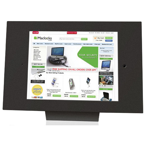 Maclocks iPad Enclosure & Mount Kiosk Bundle with Security Lock (Black)