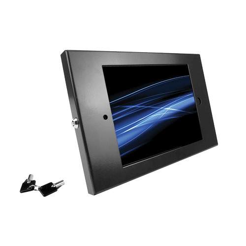 Maclocks iPad Enclosure Kiosk with Open Home Button (Black)