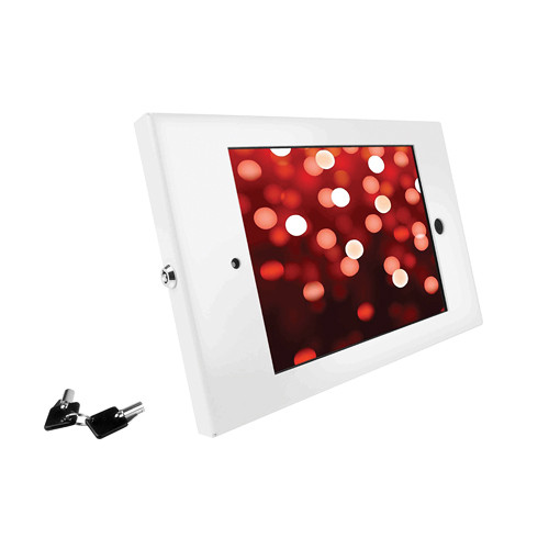 Maclocks iPad Enclosure Kiosk with Open Home Button (White)