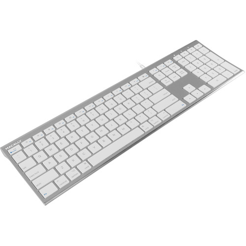 Macally Ultra Slim USB Wired Keyboard (Aluminum)