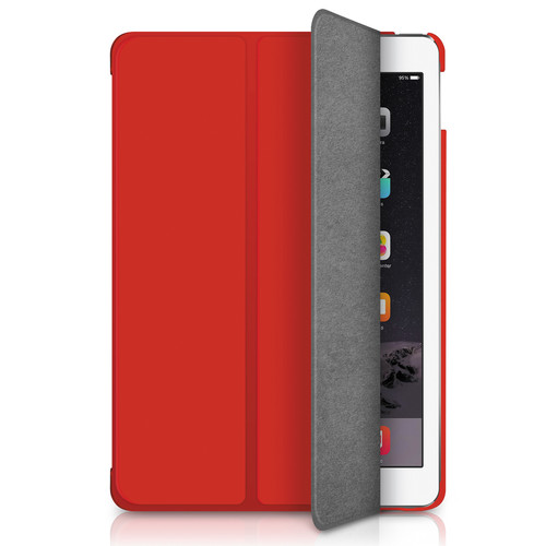 Macally Ultra Slim Folio Case & Stand for iPad Air 2 (Red)
