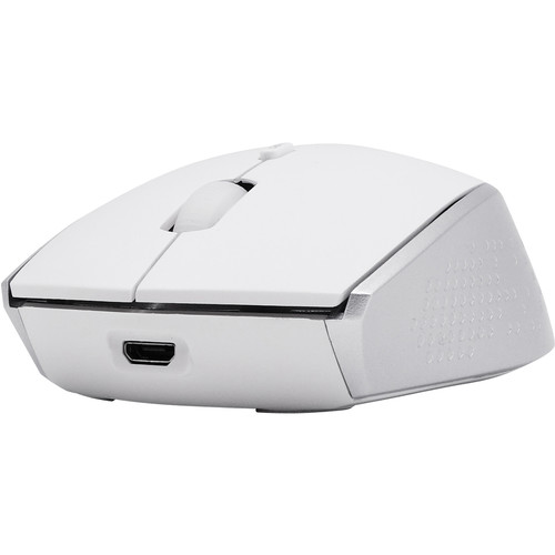Macally Rechargeable Wireless Bluetooth Optical Mouse (White/Silver)