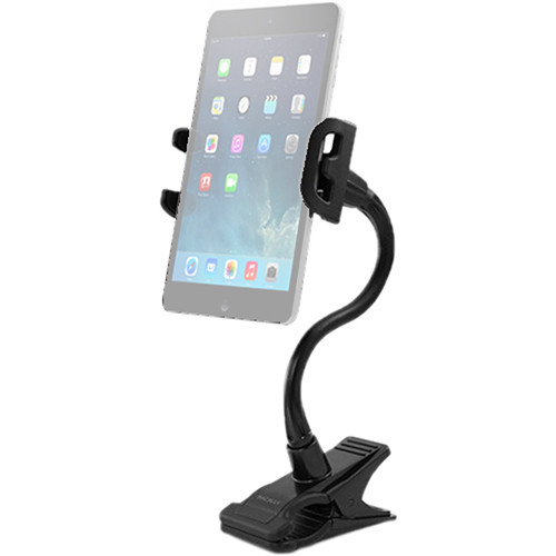 Macally Adjustable Clip-On Mount/Holder for Tablets and Smartphones (Standard)