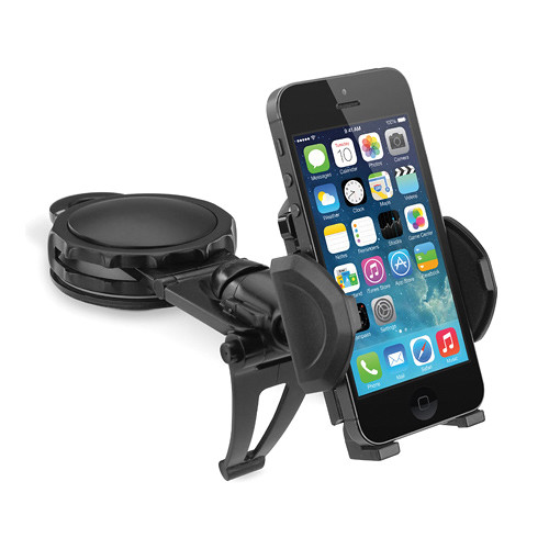 Macally Fully Adjustable Car Dash Mount for Smartphones, Android, and Most GPS Devices