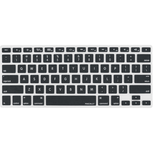 Macally Protective Cover for Select Apple Keyboards (Black)