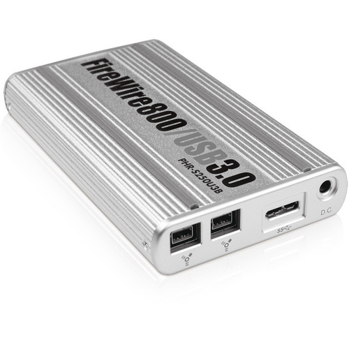 "Macally 2.5"" USB 3.0 / FireWire 800 Aluminum Hard Drive Enclosure"