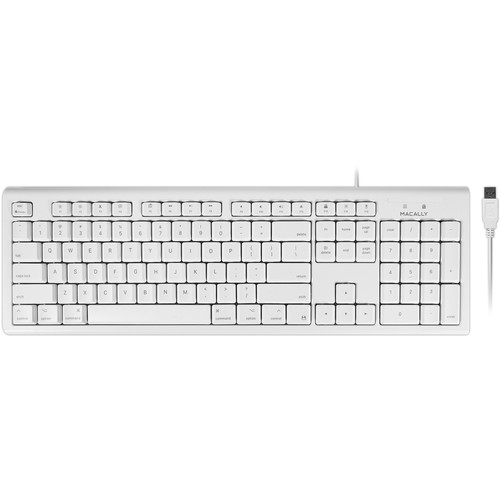 Macally Full Size USB Keyboard for Mac (White)