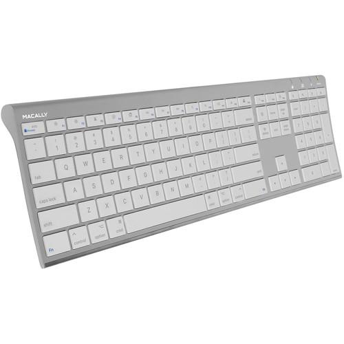 Macally Ultra Slim RF Wireless Aluminum Keyboard for Mac