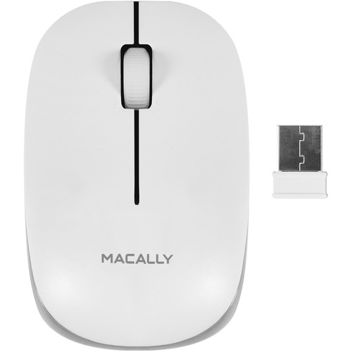 Macally 3 Button Wireless Optical RF Mouse for Mac/PC