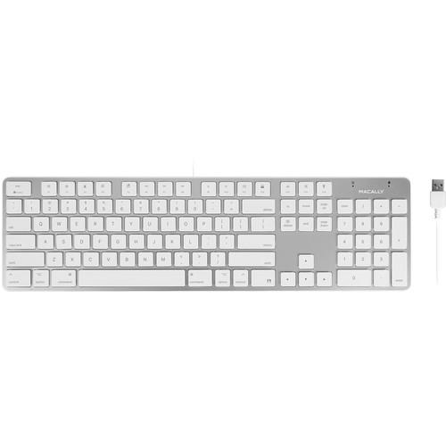 Macally 104-Key Slim USB Keyboard for Mac