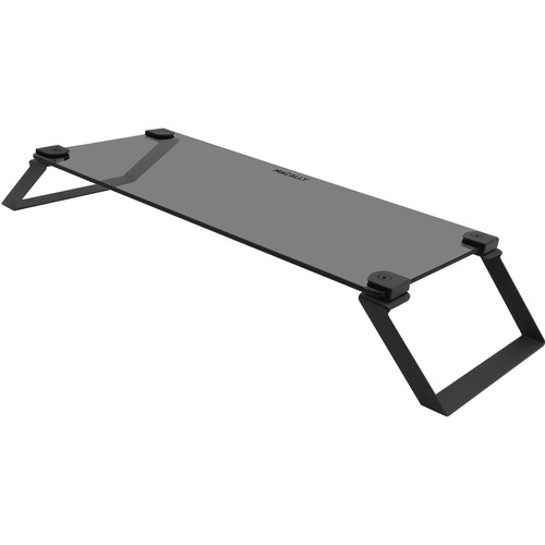 Macally Tempered Glass Monitor Stand Riser (Black)