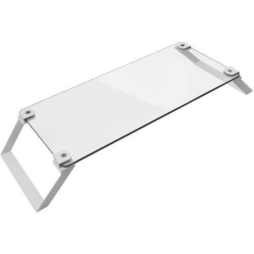 Macally Tempered Glass Monitor Stand Riser (White)
