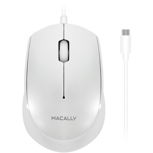 Macally 3 Button USB Type-C Optical Mouse