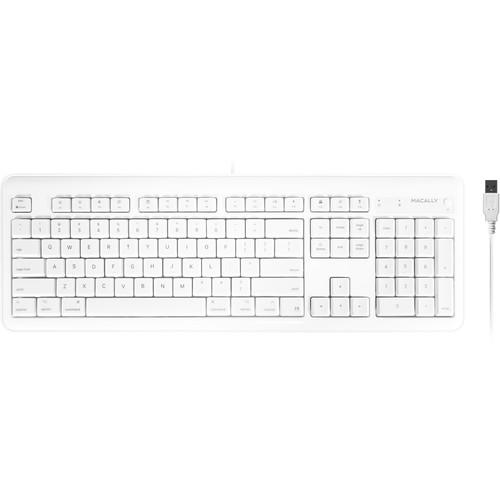 Macally 104-Key Full Size USB Keyboard for Mac