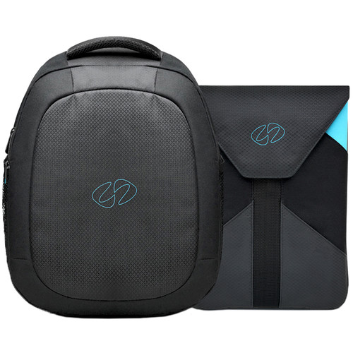 "MacCase MBPBP-13 MacBook Pro Backpack with 13"" Sleeve (Black/Cyan)"
