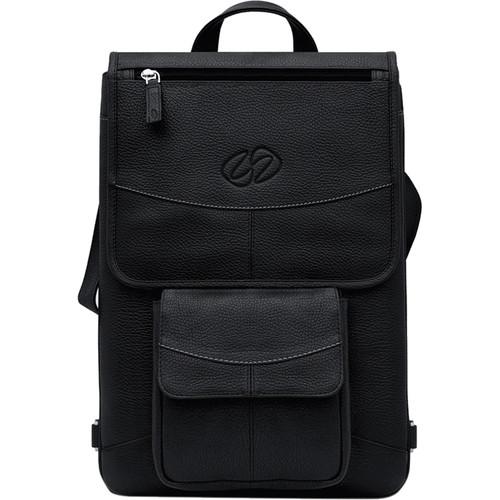 "MacCase Premium Leather 13"" Flight Jacket with Backpack Option (Black)"