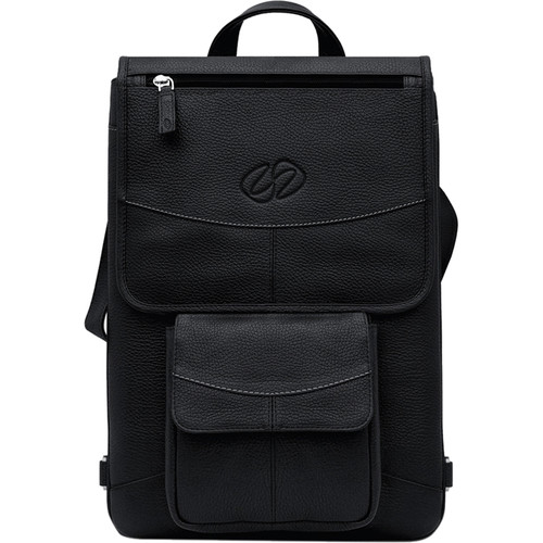 """MacCase Premium Leather Flight Jacket with Backpack Straps for MacBook Pro 15"""" (Black)"""