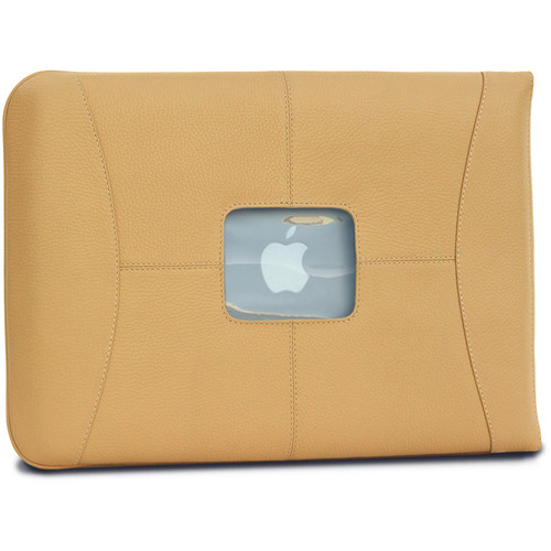 "MacCase Premium Leather Sleeve for MacBook Pro 15"" (Tan)"