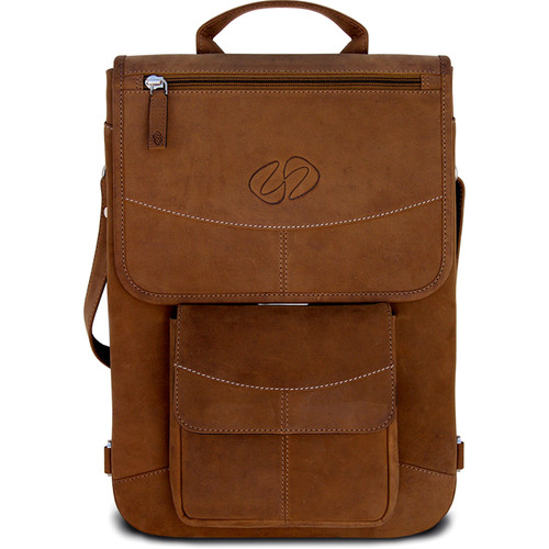 "MacCase Premium Leather 17"" MacBook Pro Flight Jacket with Backpack Straps (Vintage)"