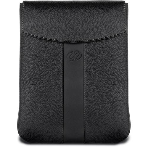 MacCase Premium Leather iPad Sleeve (Vertical, Black)