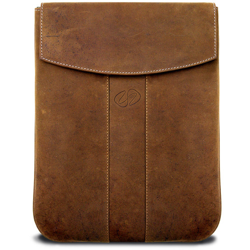 MacCase Premium Leather iPad Sleeve (Vertical, Vintage)