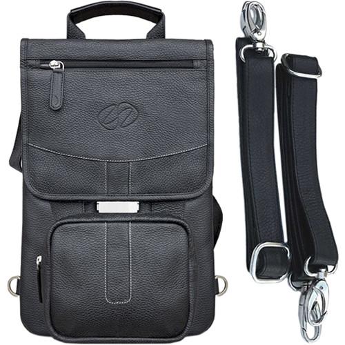 """MacCase Premium Leather iPad Pro 12.9"""" Flight Jacket with Backpack Option (Black)"""