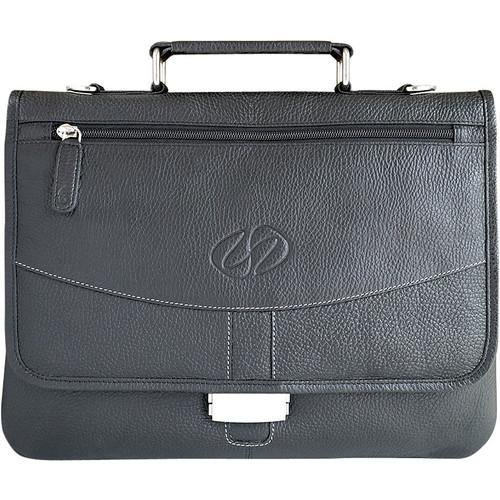 MacCase Premium Leather Briefcase for iPad Pro 12.9 (Black)
