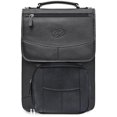 MacCase Premium Leather Briefcase (Black)