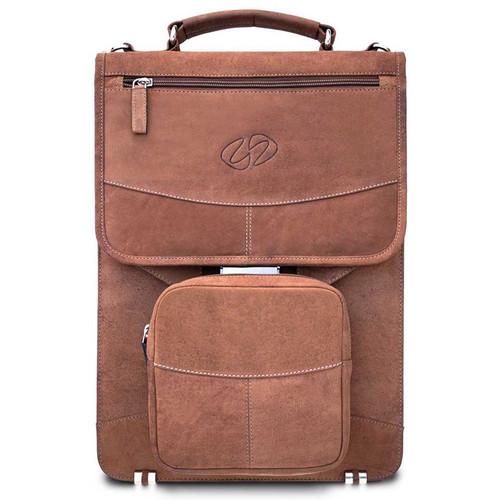MacCase Premium Leather Briefcase (Vintage Brown)