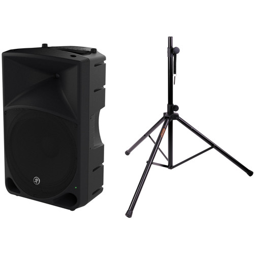 """Mackie Thump15 1000 W 15"""" Powered Loudspeaker with Stand Kit"""