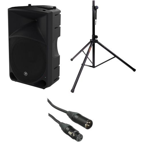 """Mackie Thump15 1000 W 15"""" Powered Loudspeaker, Stand, and Cable Kit"""