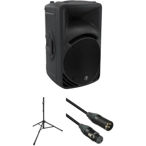 Mackie 1000W Portable Powered Loudspeaker with Stand and XLR Cable Kit
