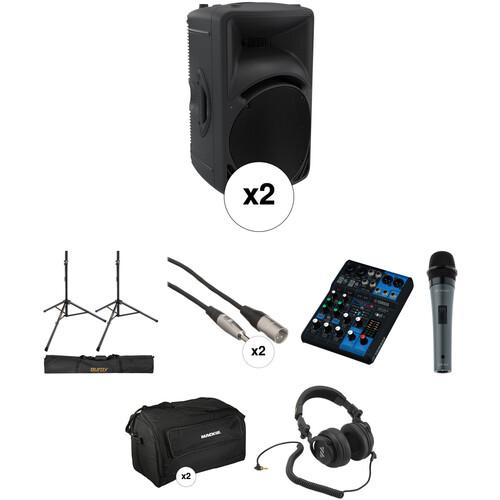 "Mackie 1000W HD Portable 12"" Powered Loudspeaker Large Kit"