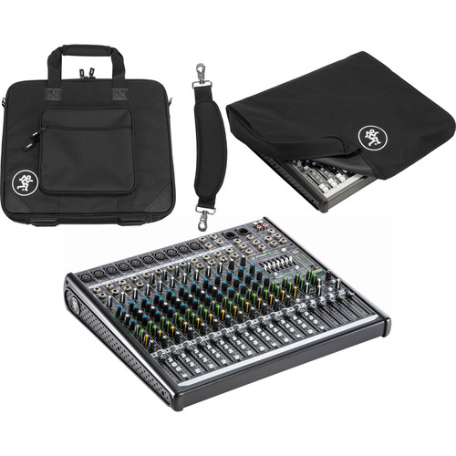 Mackie ProFX16v2 16-Channel Mixer with Dust Cover & Carry Bag Kit