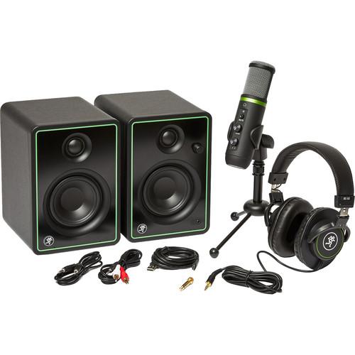 Mackie Creator Bundle 3in. Multimedia Monitors, USB Microphone, and Headphones