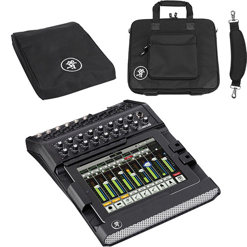 Mackie DL1608 iPad-Controlled 16-Channel Lightning Connector Digital Live Sound Mixer with Mixer Bag and Mixer Cover