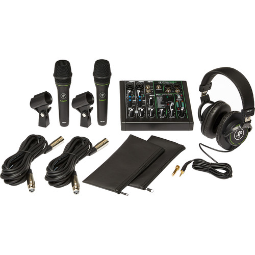 Mackie Performer Bundle 6-Channel Mixer, Two Dynamic Vocal Microphones, and Headphones