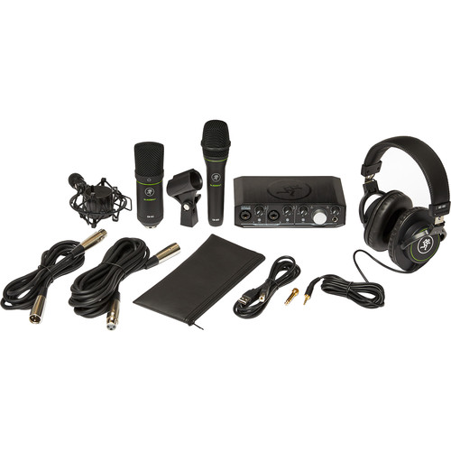 Mackie Producer Bundle USB Audio/MIDI Interface, Condenser Mic, Dynamic Mic, and Headphones