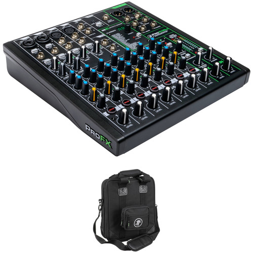 Mackie ProFX10v3 10-Channel Sound Reinforcement Mixer Kit with Carry Bag