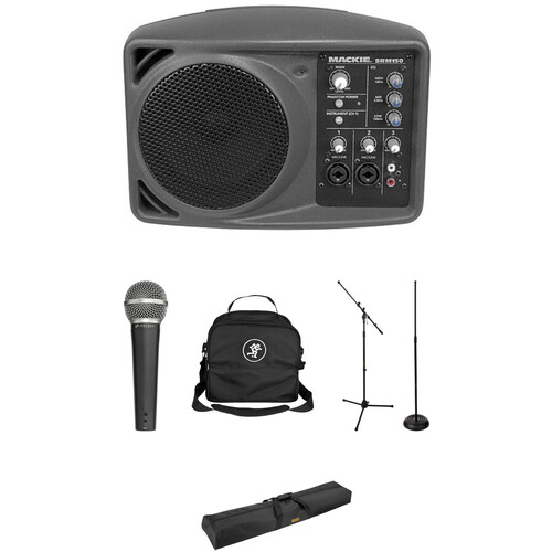 Mackie SRM150 Compact PA System Kit with Stage Package