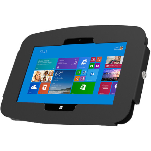 Maclocks Space Surface Tablet Enclosure Wall Mount for Surface 3 with Security Lock (Black)