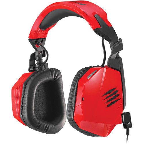 Mad Catz F.R.E.Q. 3 Stereo Gaming Headset for PC/Mac/Smart Devices (Red)