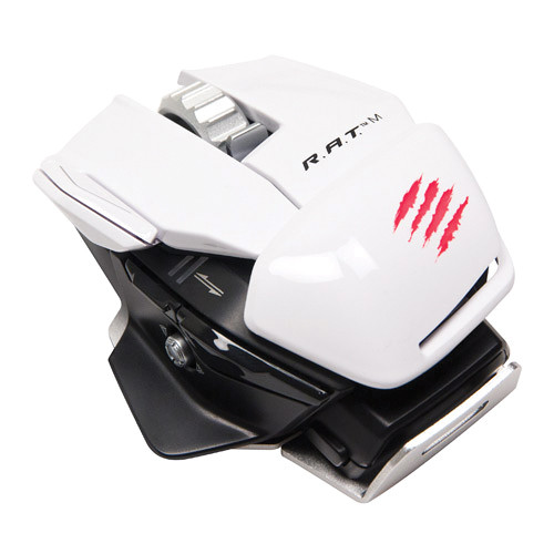 Mad Catz R.A.T. M Wireless Mobile Gaming Mouse (White)