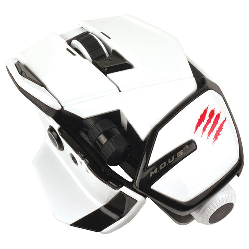 Mad Catz M.O.U.S. 9 Gaming Mouse (White)