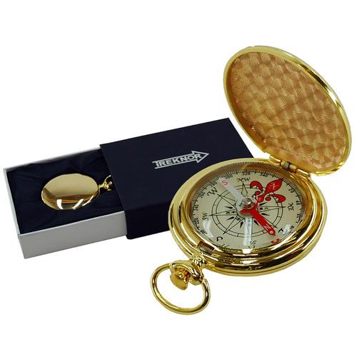 Treknor Pocket Compass (Gold)