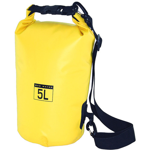 Mad Water Classic Roll-Top Waterproof Dry Bag (5L, Yellow)