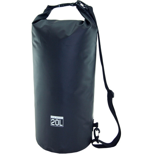 Mad Water Classic Roll-Top Waterproof Dry Bag (20L, Black)