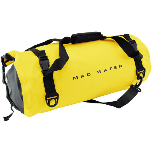 Mad Water Classic Roll-Top Waterproof Duffel Bag (30L, Yellow)