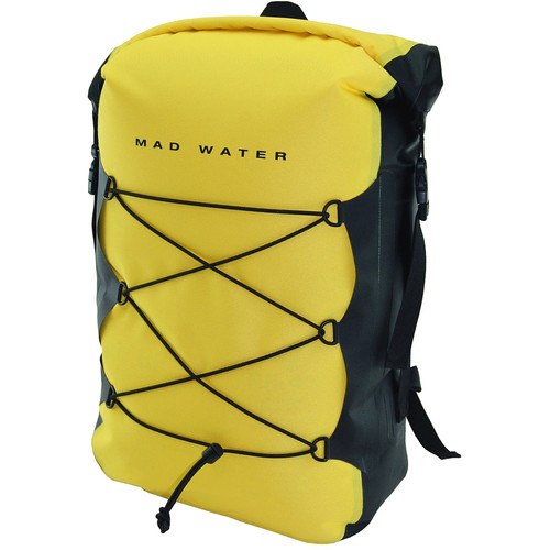 Mad Water Classic Roll-Top Waterproof Backpack (30L, Yellow)